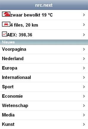nrc.next Iphone applicatie